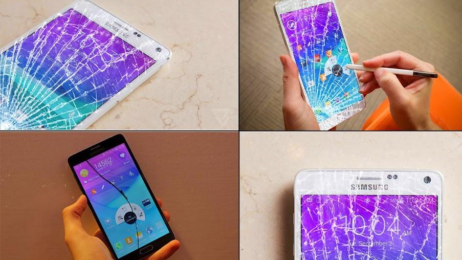Thay mặt kính cảm ứng Samsung Galaxy Note 4