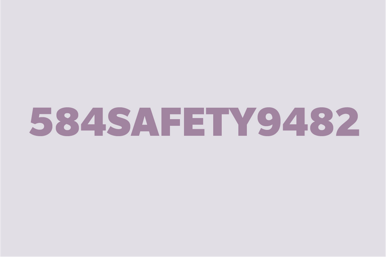 """Rebus puzzle """"584 Safety 9482"""""""