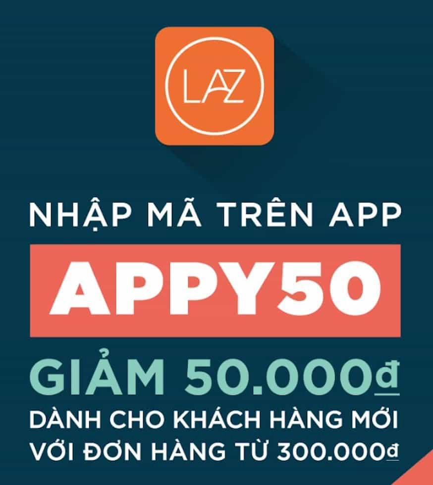 Mã giảm giá lazada trên app Lazada