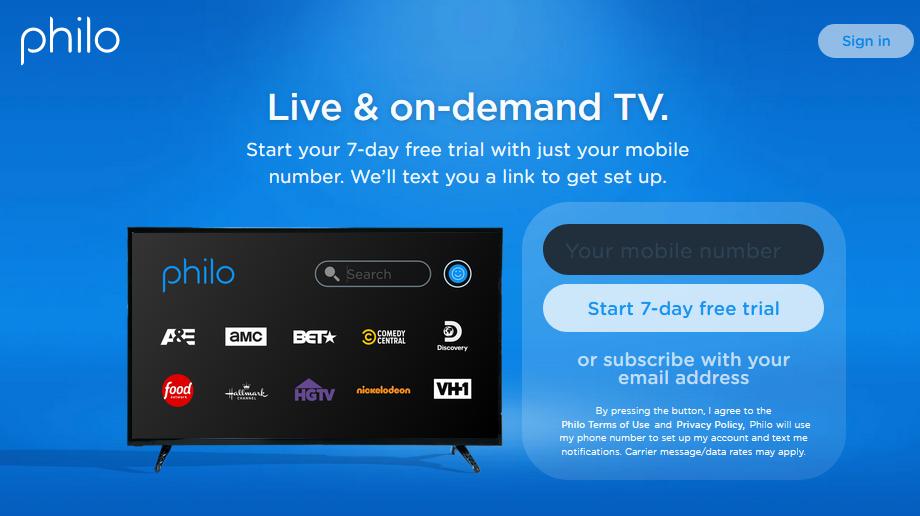 Philo TV Free Trial