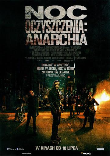 Przód ulotki filmu 'Noc Oczyszczenia: Anarchia'