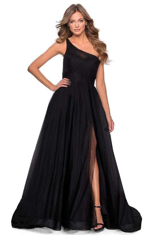 Asymmetrical ruched Ball gown