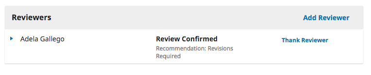 The Review Confirmed status applied to a review.