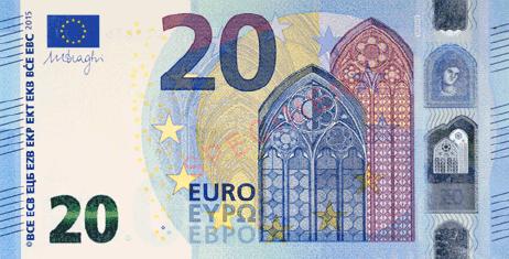 đồng euro gí trị thứ 7 về mệnh giá
