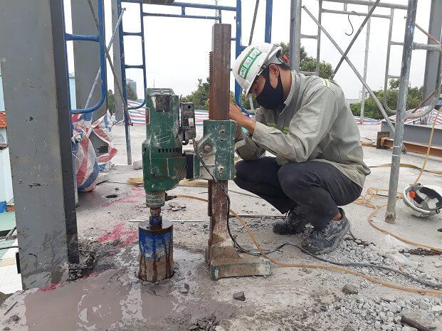 Sử dụng máy móc, công nghệ hiện đại trong khoan cắt bê tông