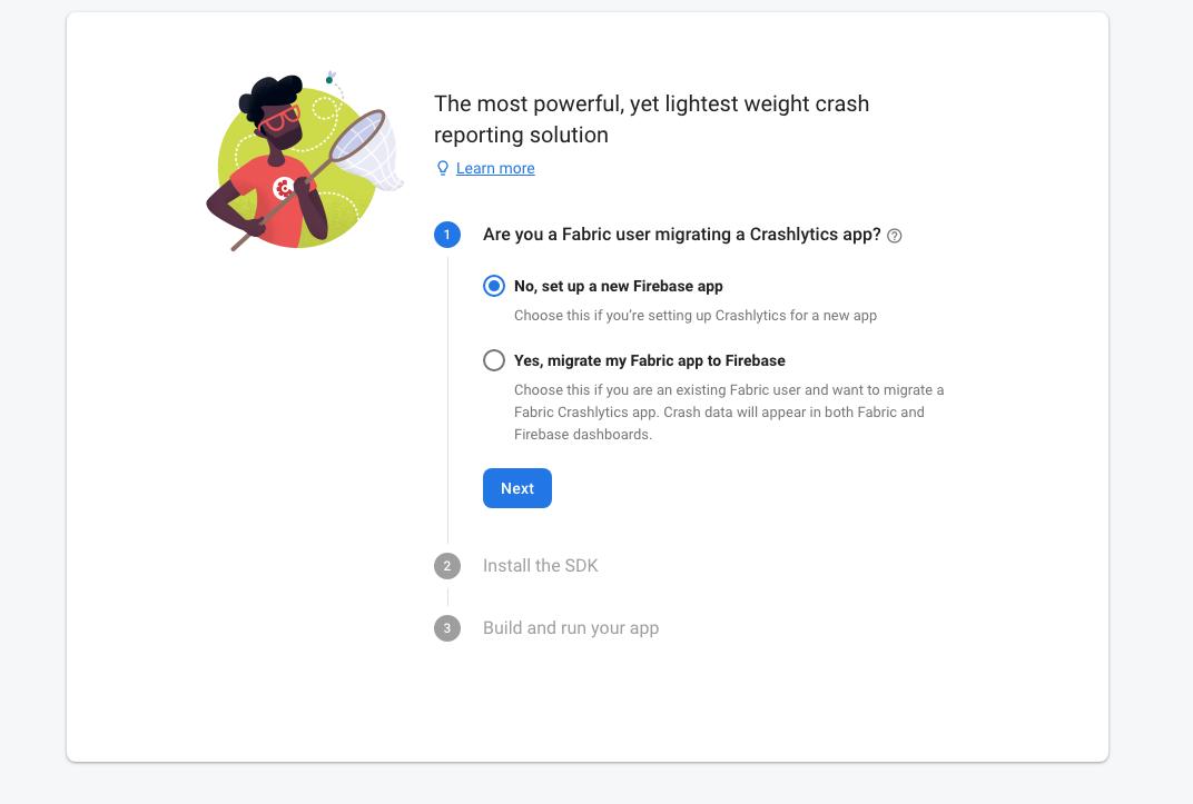Fabric user migrating a Crashlytics app