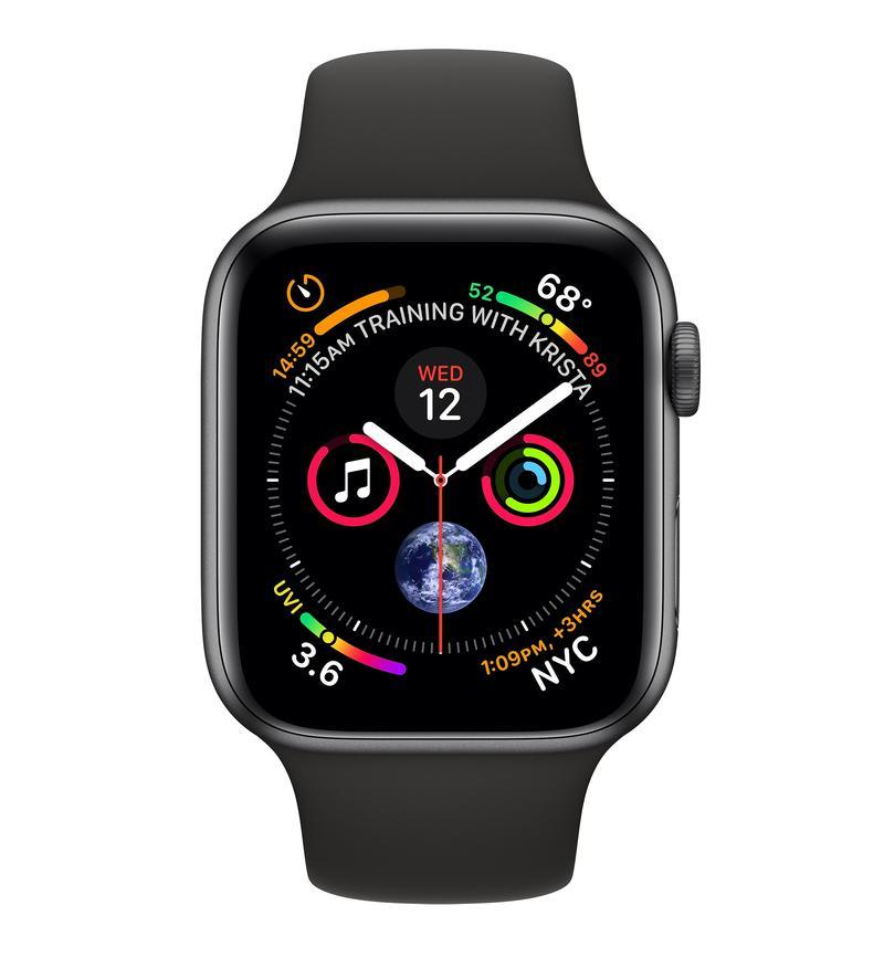 Apple watch series 4 GPS, 40mm Space Grey Aluminum Case with Black Sport Band