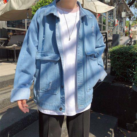 Baggy denim jacket