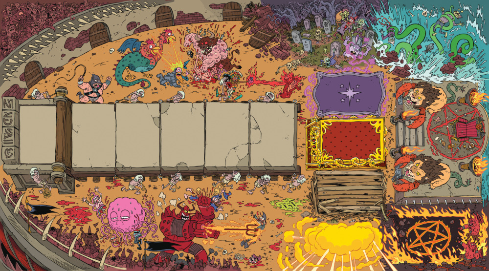 Epic Spell Wars of the Battle Wizards: ANNIHILAGEDDON DBG Playmat