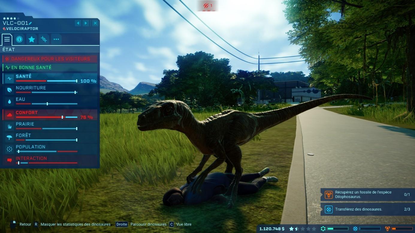 Test de Jurassic World Evolution : un colosse au charme incroyable, mais à  l'endurance limitée | Journal du Geek