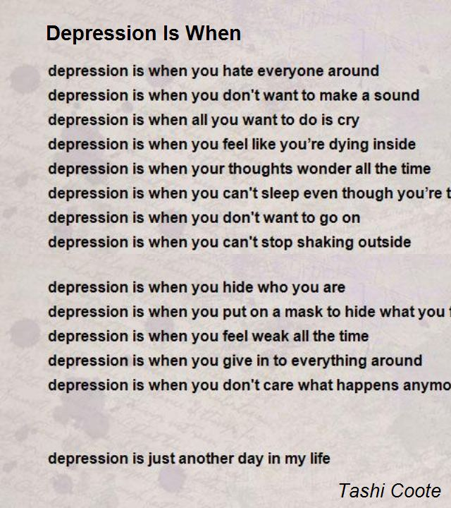 Poems about depression