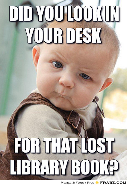 Image result for library due date memes