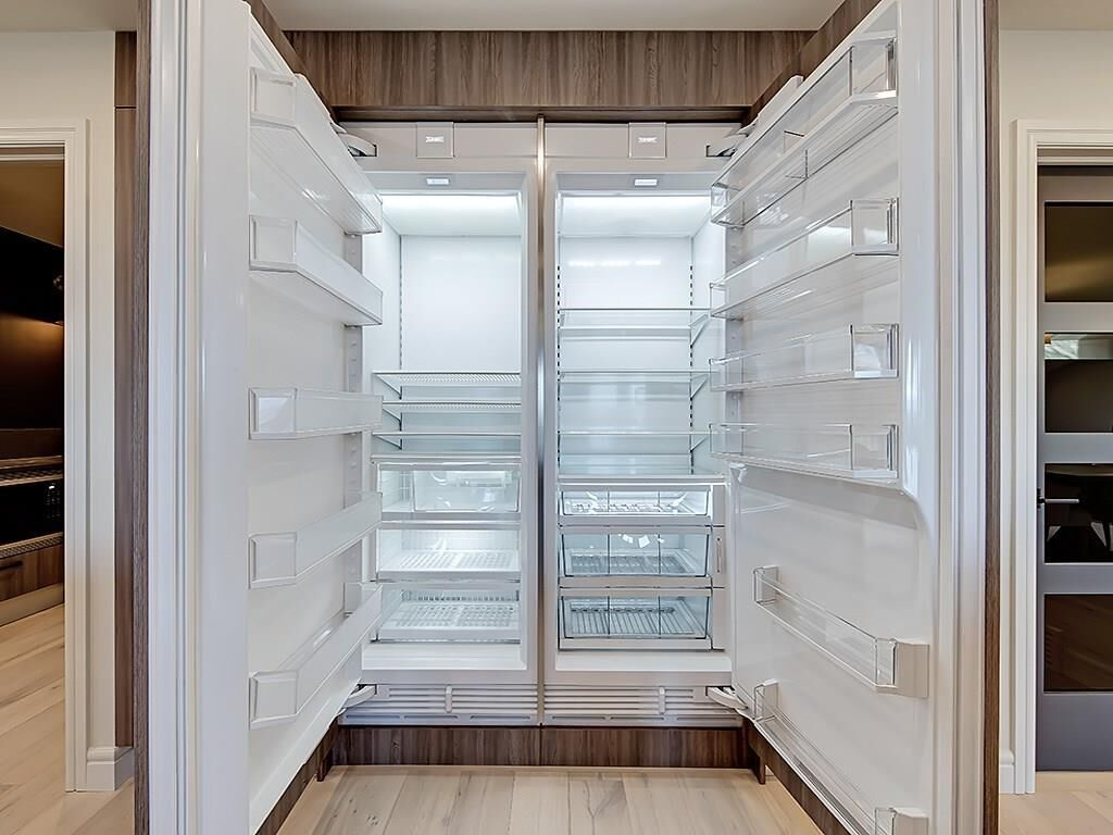 huge all-fridge appliance keeps large family's food fresh calgary design