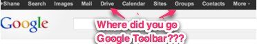Where did the Google Menu Bar Go?