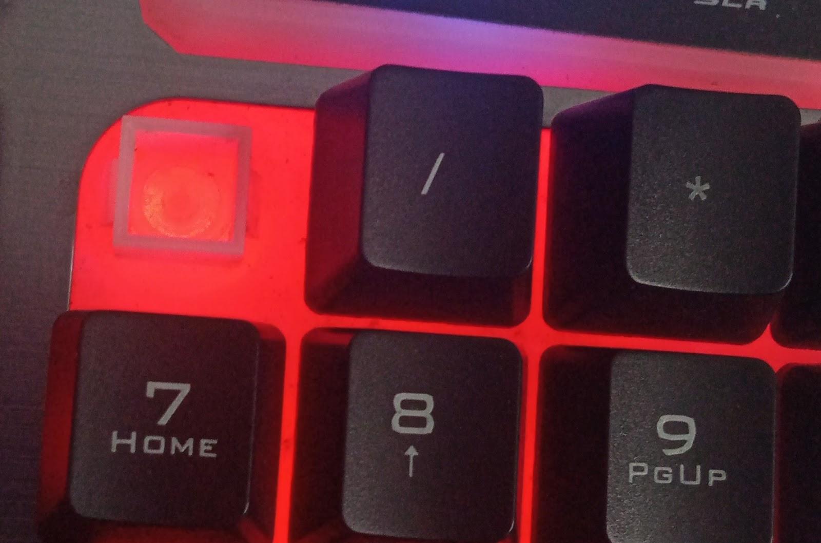 Removed Num Lock key on a Semi-Membrane keyboard