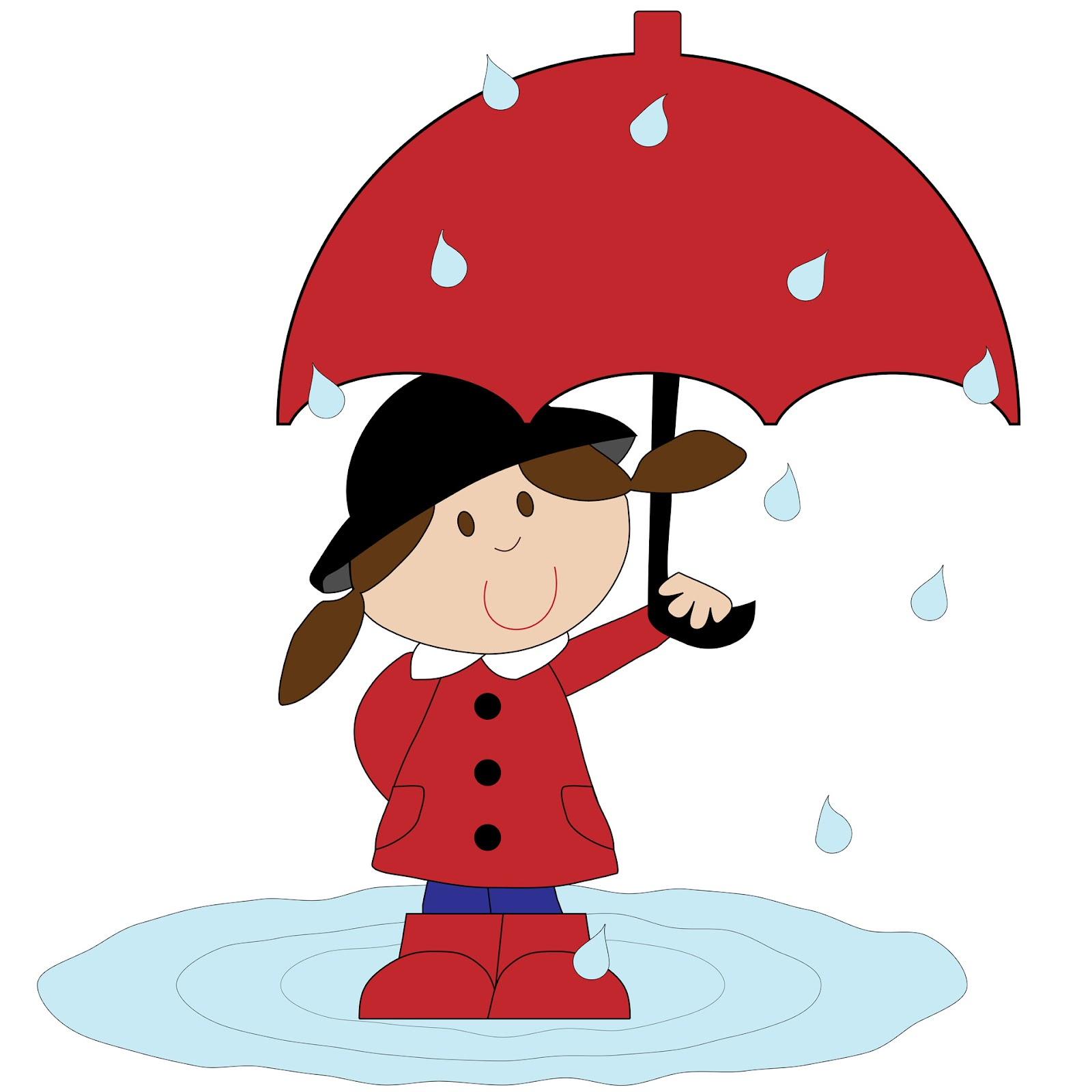 Girl With Umbrella ...