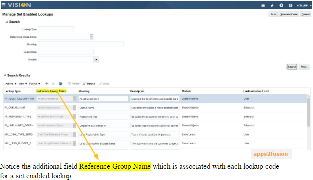 Understanding Lookups in Oracle Fusion Application