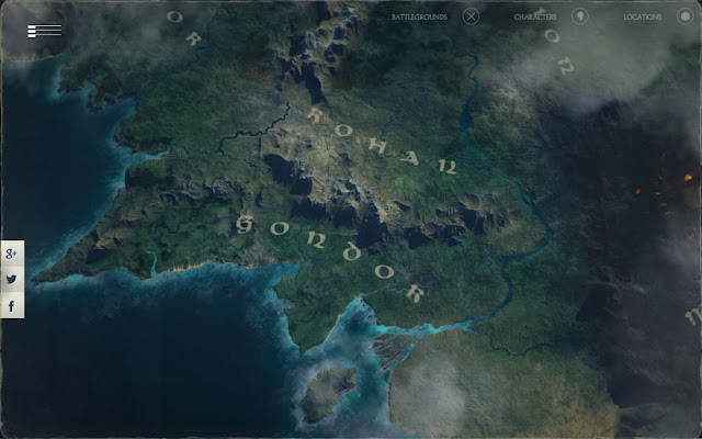 A Journey through Middleearth Chrome Web Store – 3d Map of Middle Earth