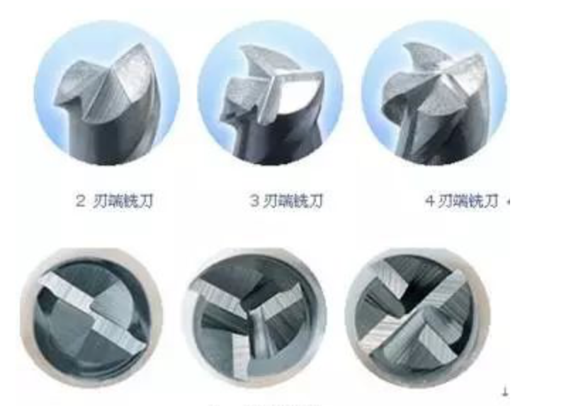 endmills with different flutes