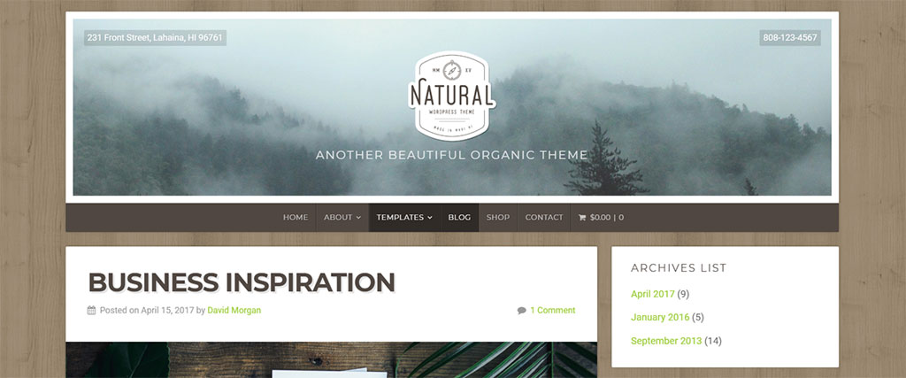 natural lite plugin para wordpress