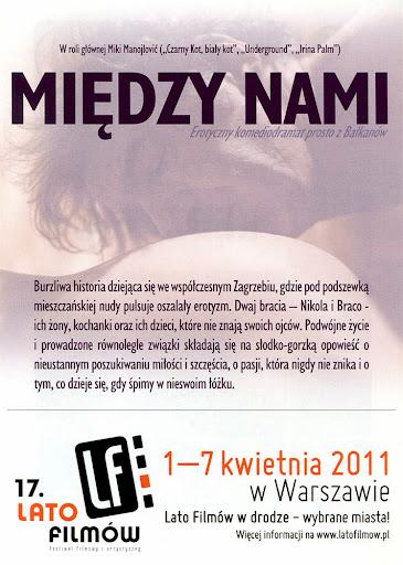 Tył ulotki filmu 'Między Nami'