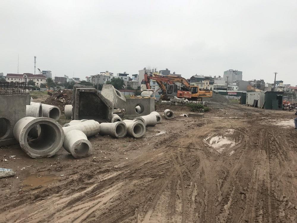 Hệ thống thoát nước tại dự án Tây Nam Kim Giang