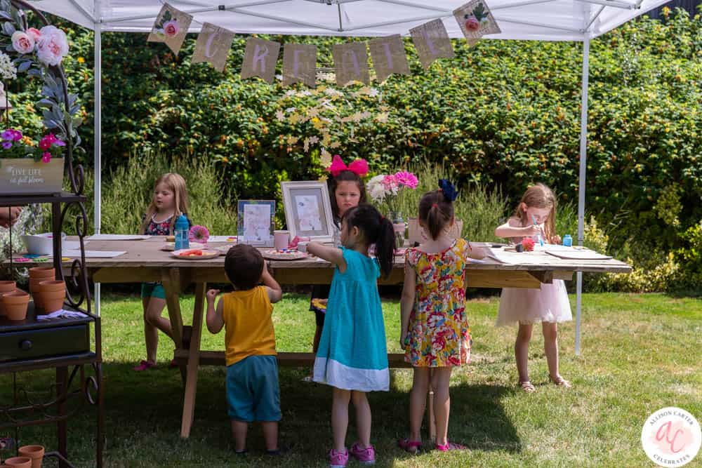 A Flower Themed 5th Birthday Party