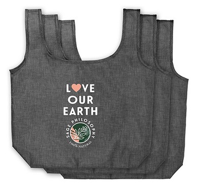Ash Recycled 3-Pack Shopper Totes