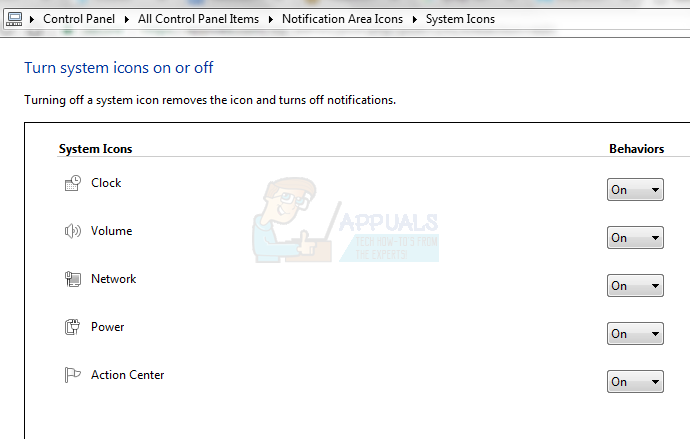 Fix Volume Icon on Windows 10