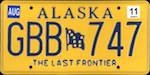 Image of the Alaska state license.
