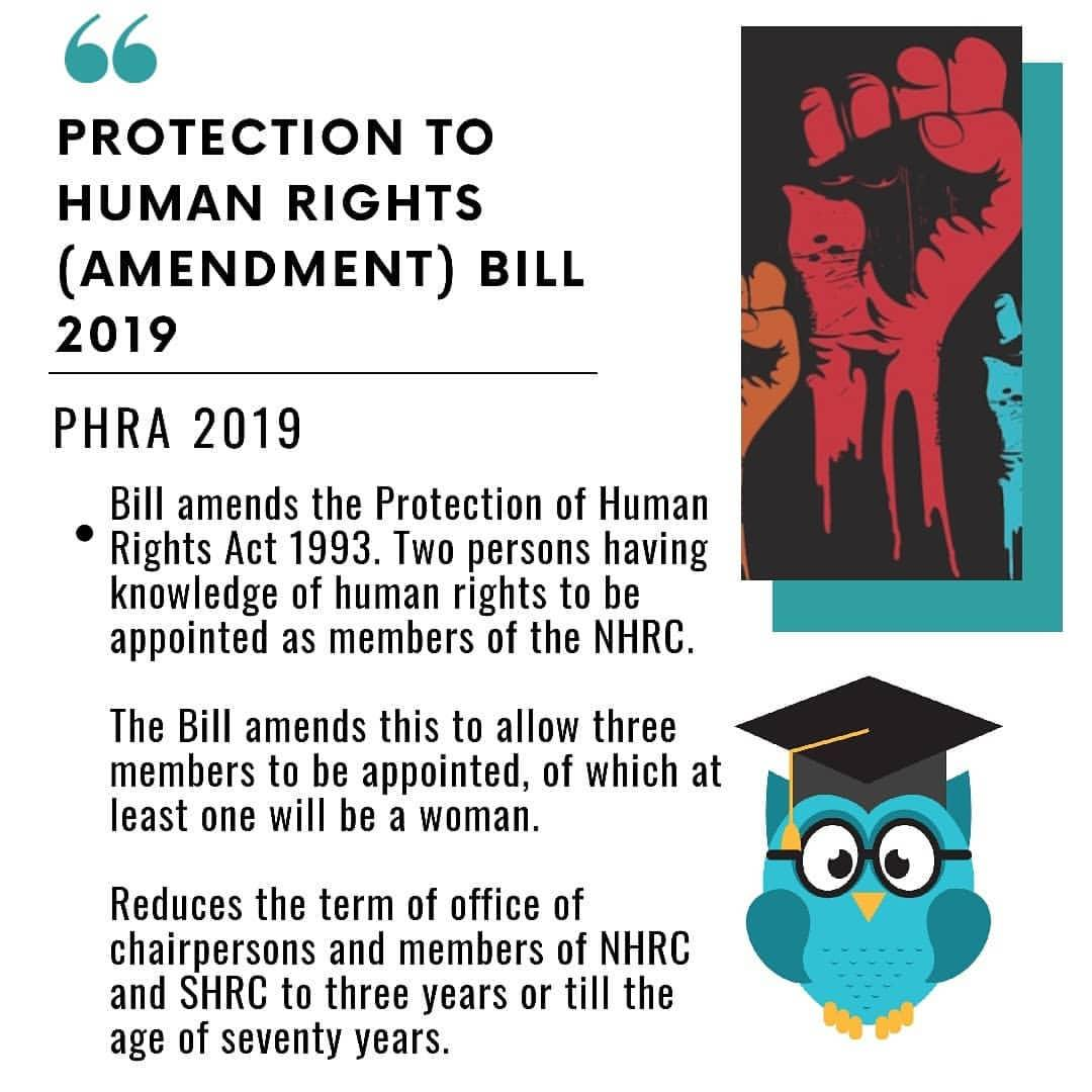 Image result for Protection of Human Rights (Amendment) Bill, 2019