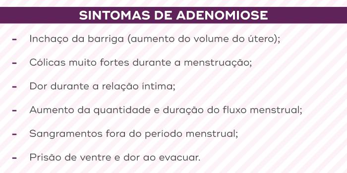 Principais sintomas de adenomiose