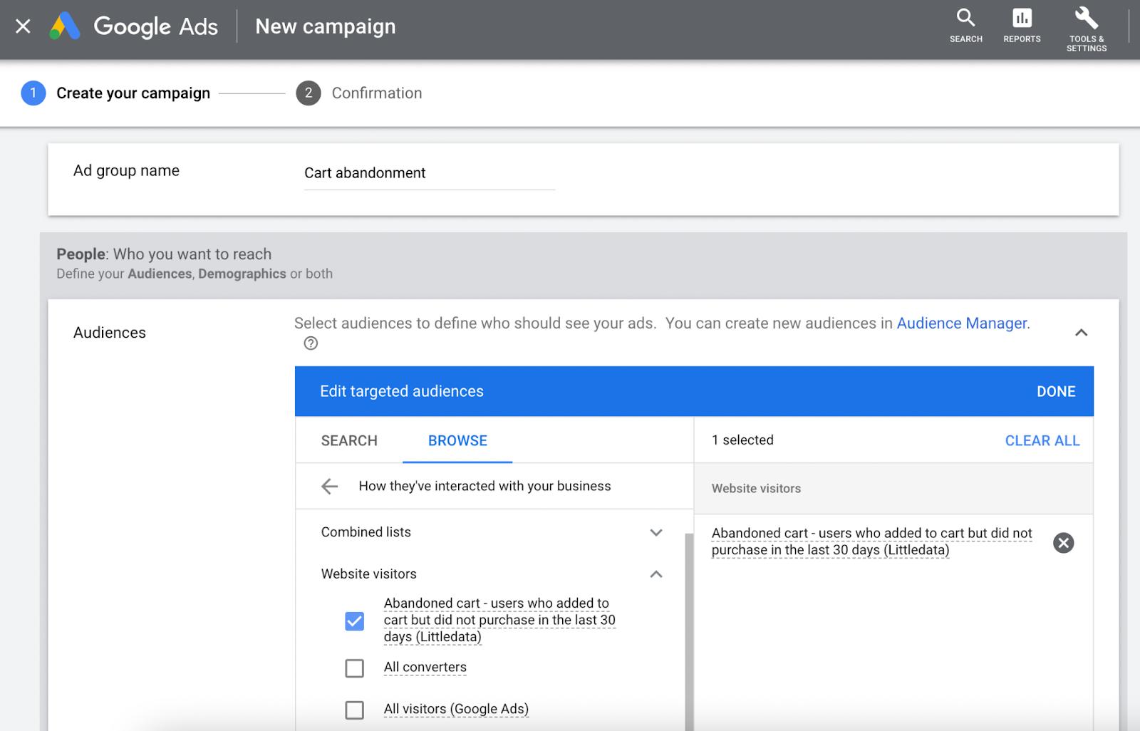 google-display-campaign-creation