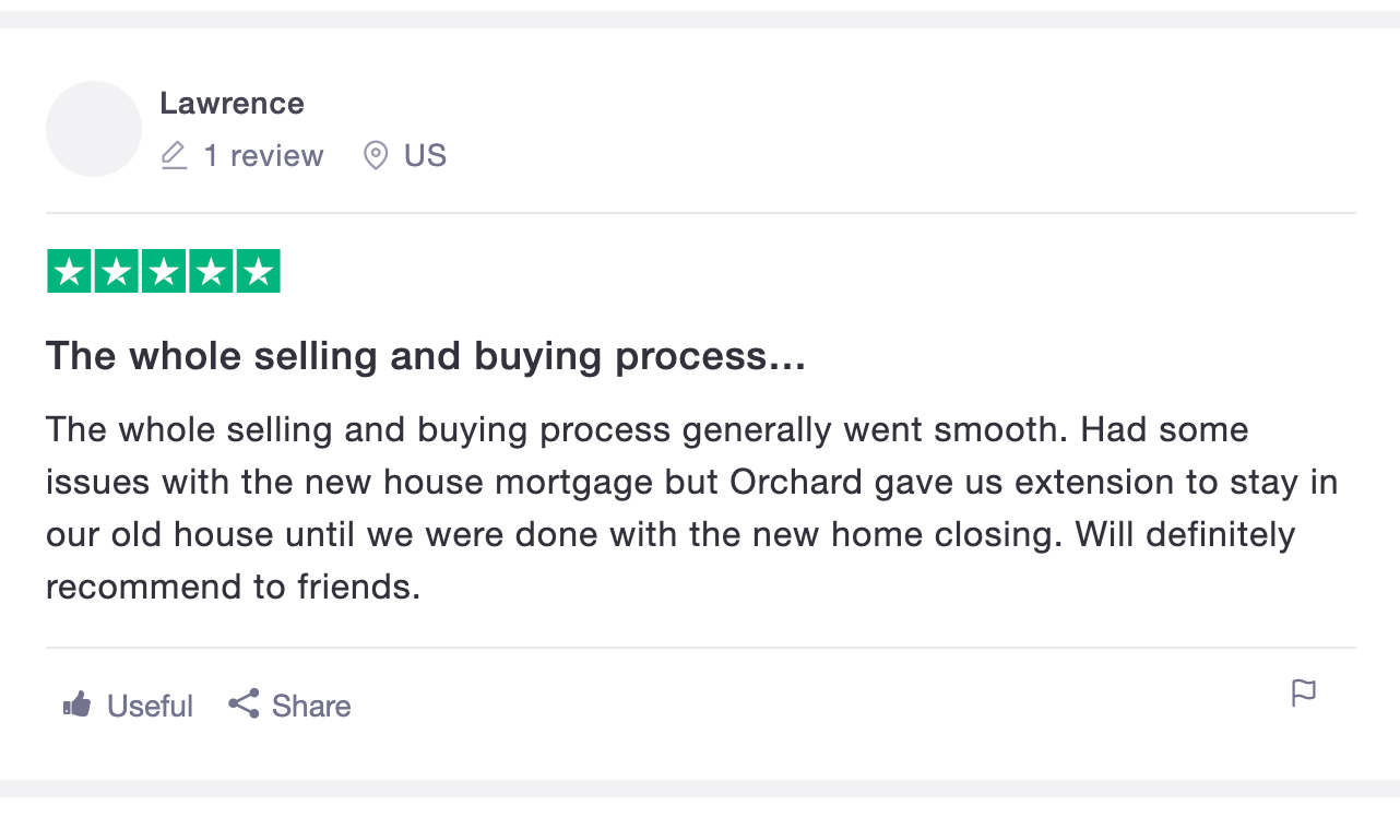 orchard real estate positive review
