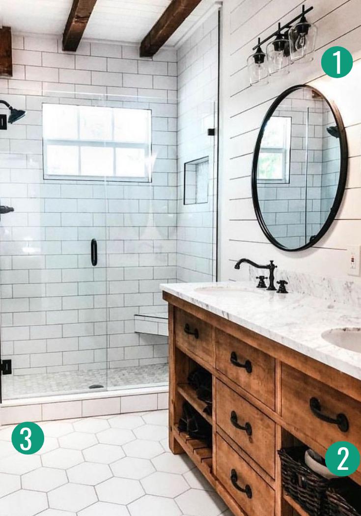 19 Decor Must Haves For A Small Farmhouse Bathroom