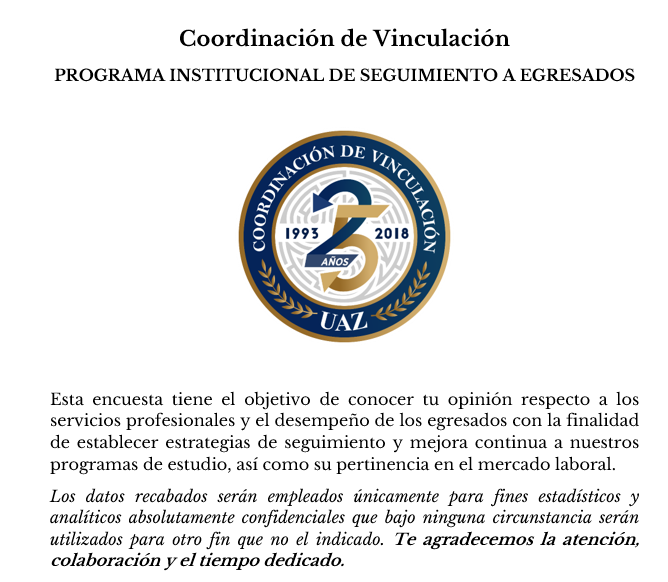 Programa Institucional de Seguimiento a Egresados