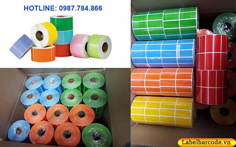 Giấy decal nhuộm màu được ứng dụng phổ biến hiện nay trong nhiều ngành hàng hóa công nghiệp