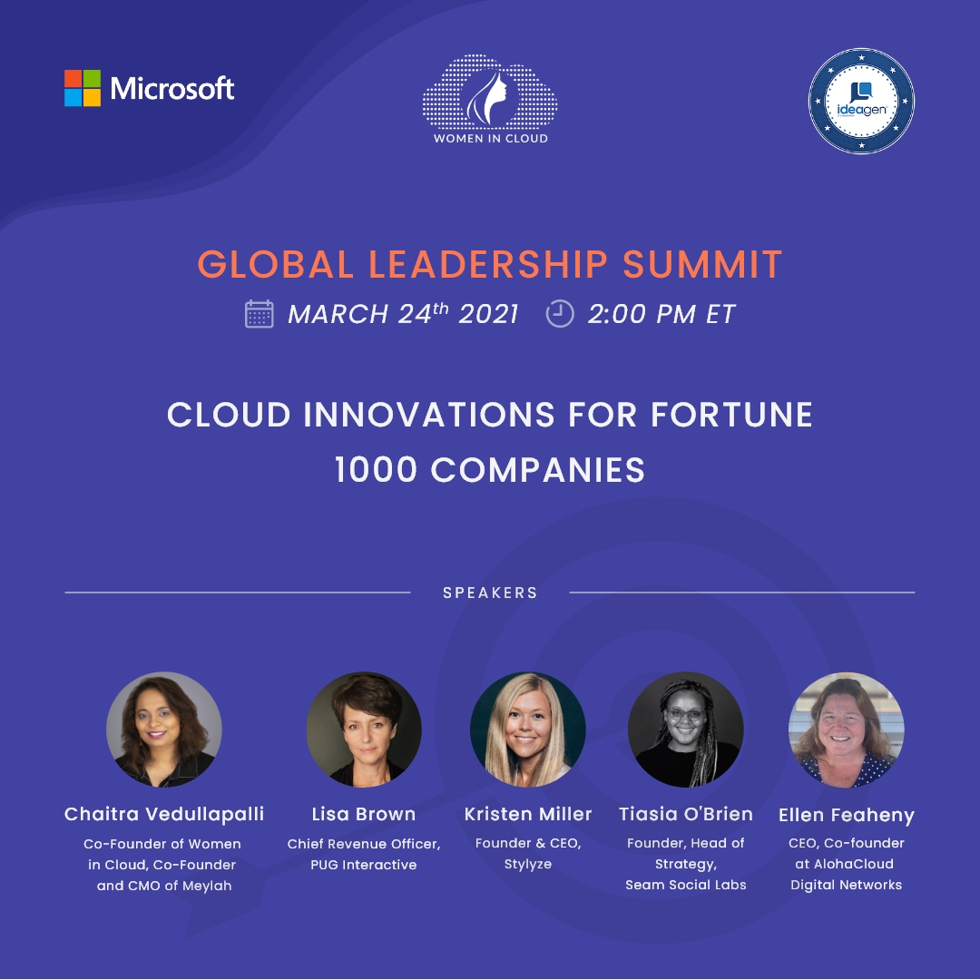 Women In Cloud Innovations for Fortune 1000 Companies