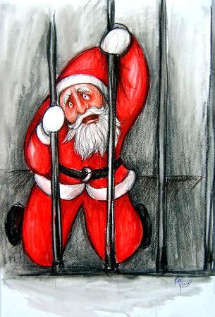 Image result for santa in jail
