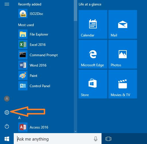 Open Windows Settings in Windows 10?