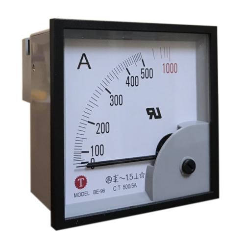 Đồng hồ đo dòng điện (Ampe kế) BE-96 500/5A Taiwan Meter