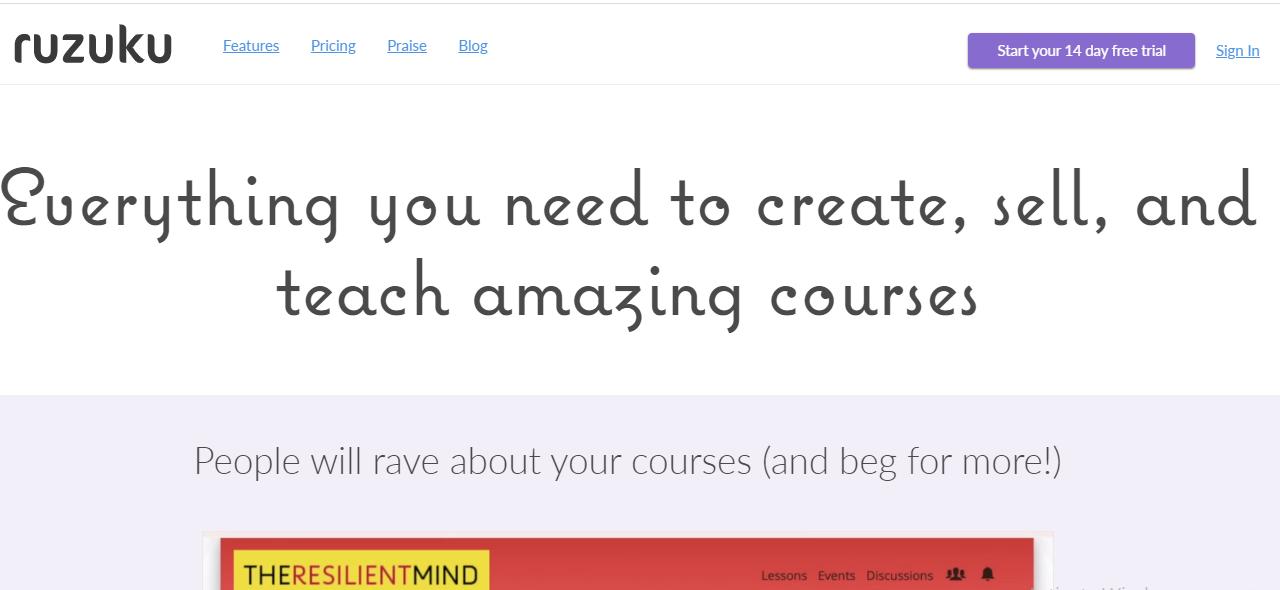 Online Course Platform - Ruzuku