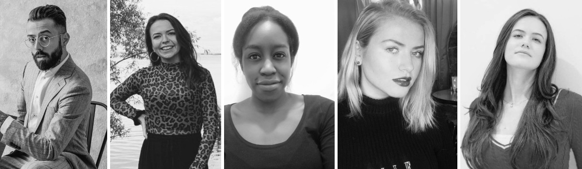 SEO Alt text: Models Dan Pontarlier and Amanda Sarco | Assistants Dayna Welch and Khadijat Opeloyeru | Hair and Makeup Natasha Thornton | Pure London Team Feb 2020