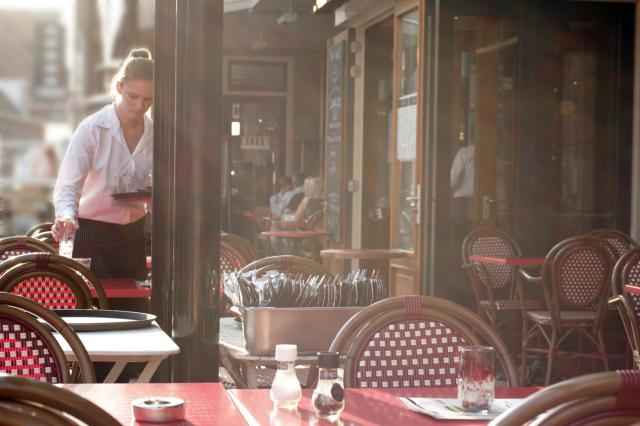 restaurant, déjeuner, repas