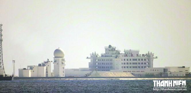 Mức độ rộng lớn của công trình trái phép mà Trung Quốc xây dựng trên Gạc Ma lớn gấp nhiều lần so với Huy Gơ