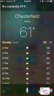 Siri can be a weather forecaster