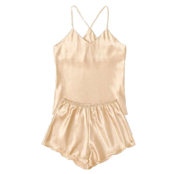 لباس خواب زنانه کد T-870 رنگ طلایی