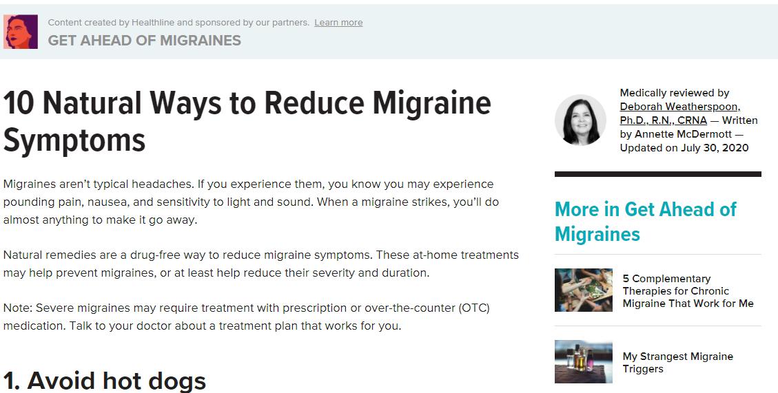 10 natural ways to reduce migraine symptoms image