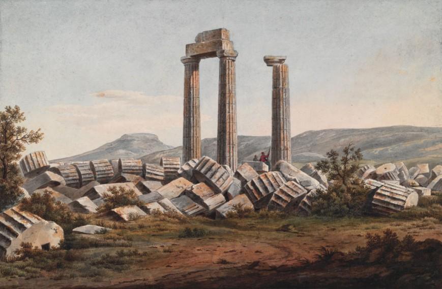 Ο Ναός του Δία στη Νεμέα, 1805 / The Packard Humanities Institute