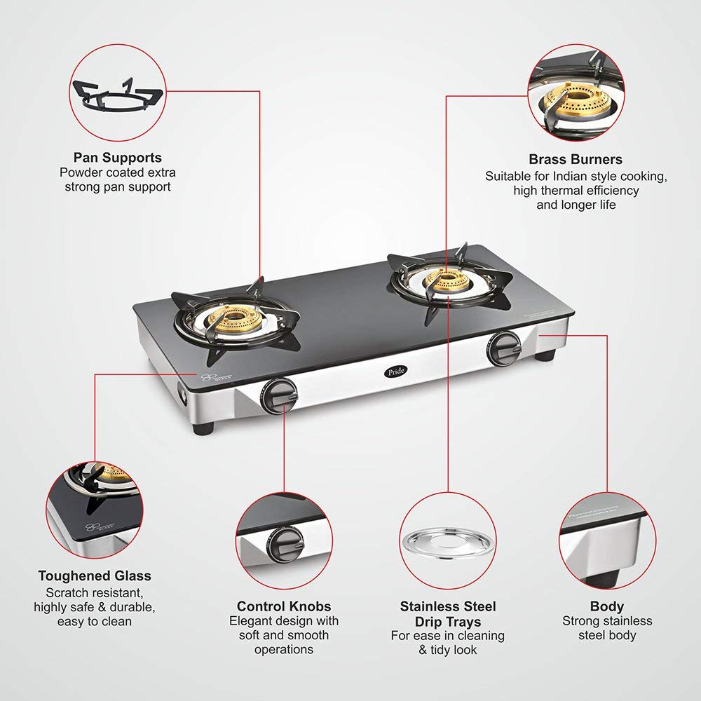 SUNFLAME 2 BURNER GAS STOVE READY TO COOK